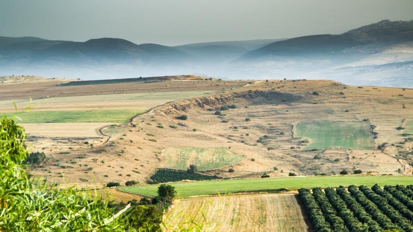 Terrain north of Tiberias